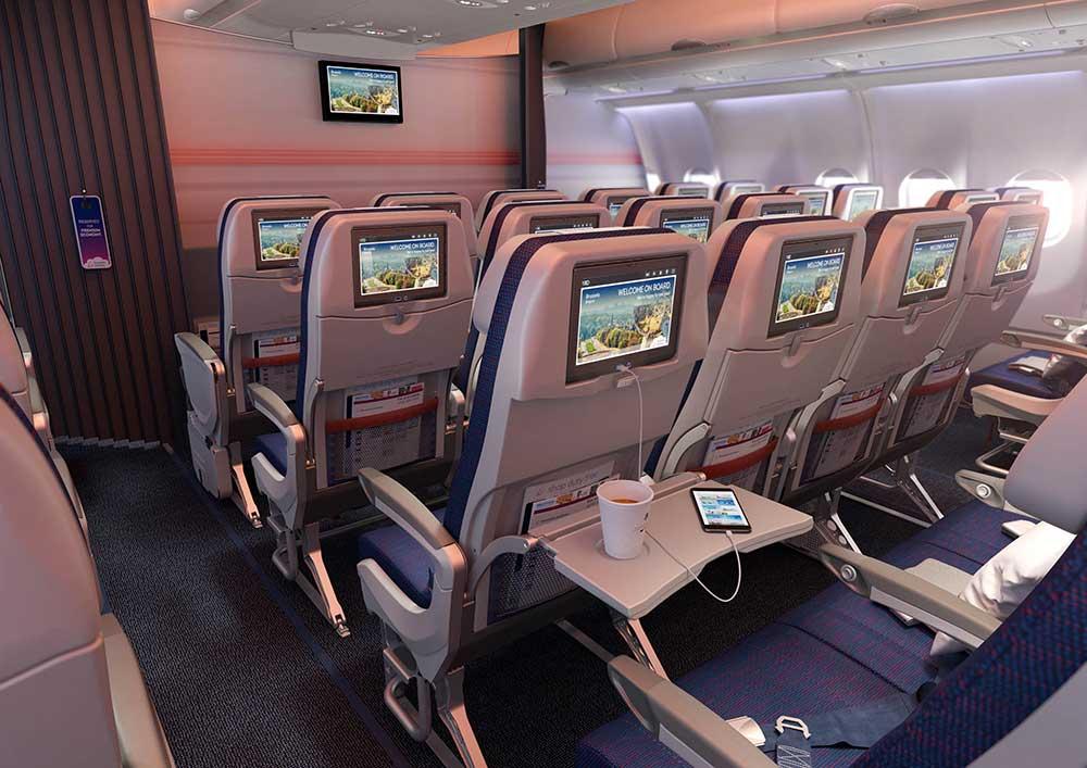 Cabine Premium Economy class de Brussels Airlines